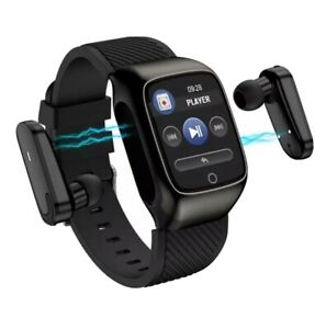 Smart Watch with integrated Wireless Bluetooth Headphone fitness tracker
