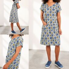 NEW RRP £55 Ex White Stuff Crossroads Dress In Light Blue Skin