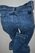 """7 for all mankind stretch luxe 'the SKINNY JEANS size 24  uk 6-8  womens 28""""leg"""