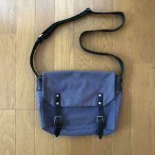 Ally Capellino Shoulder Bag Navy Blue Used from Japan F/S