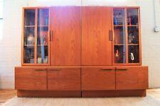 Danish Modern Ib Kofod Larsen Reolsystem Teak Cabinets Modular Wall Unit
