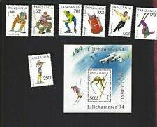 Tanzania sc#1201-7 #1208 Souvenir Sheet (1994) MNH