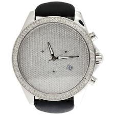 Mens XL Arctica Glory Diamond Watch Full Illusion Dial 47mm Joe Rodeo | 1.50 CT.