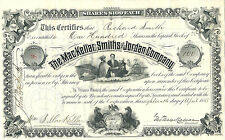 PENNSYLVANIA1885 MacKellar Smiths & Jordan Co Stock Certificate Printing #38