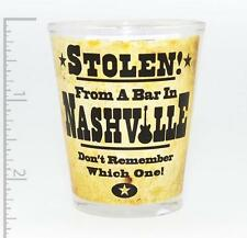 """""""STOLEN (2) FROM A BAR IN NASHVILLE DON'T REMEMBER WHICH ONE"""" SHOT GLASS FUN"""