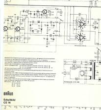 Braun Original Service Schaltplan für CE 16