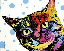Poster bunte PopArt - Katze 50 X 40 Cm