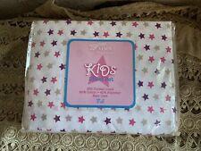 New Venus Home Collection Kids Full Sheet Set - Purple Pink Taupe Star Girls Nip