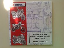 Oem Suzuki Motorcycle & Atv Ready Reference Manuals 1978-2008 99923-32008-All Cd