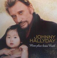 JOHNNY HALLYDAY : MON PLUS BEAU NOEL - [ RARE PROMO CD SINGLE ]