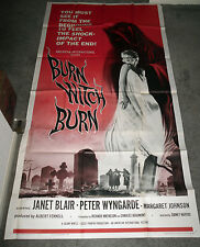 BURN WITCH BURN/NIGHT OF THE EAGLE 3-sheet poster JANET BLAIR/PETER WYNGARDE
