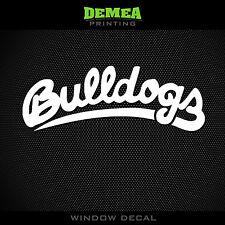 """Fresno State - Bulldogs - NCAA - White Vinyl Sticker Decal 5"""""""