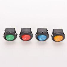 4pcs 4Colors Car LED Dot Light 12V Round ON/OFF Rocker Toggle SPST Switches