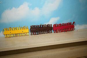 Modellbahn Verteilerplatten 3 Stck Gelb Braun Rot je 24 Anschlüsse mit Stecker