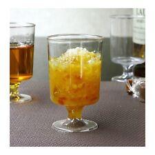 12 Bicchieri Di Plastica Piedistallo - - - - - Cancella Partito Dessert Frutta Insalata usa e getta