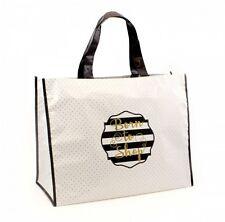 Grocery Clothes Reusable Shopping Bag  Rain Proof Carrier Born to shop Slogan