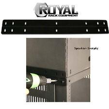 Royal Racks Pair Rack Stax Stack AV Rack Stacking Plate Black Adapter ROY1232