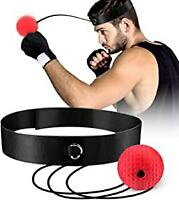 Professional boxing speed tennis reflex training exercise head with fast ball