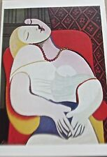 Pablo Picasso Poster The Dream Offset Lithograph Unsigned 16x11