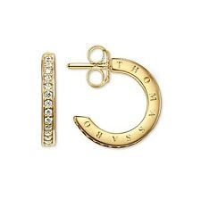 New GenuineThomas Sabo Silver Gold Plated CZ set hoop earrings CR579-414-14 £129