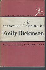 Selected poems of emily dickinson conrad aiken 1924 random house modern library