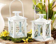 48 White Luminous Mini Lantern Tea Light Holder Wedding Favors Table Decor