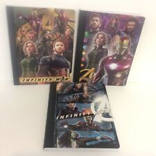 3 Marvel Advengers Infinity wars  Composition Wide Rule Notebooks