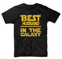 Best Husband in The Galaxy T-Shirt Star Wars Themed Cute T-Shirts Black