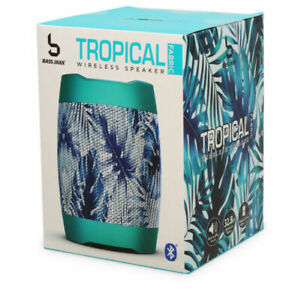 Cool Tropical Fabric Print Portable Wireless Bluetooth Speaker w/ Li-ion Battery