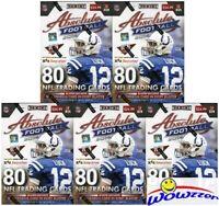 (5) 2014 Panini Absolute Football Factory Sealed Blaster Box+5 MEMORABILIA Cards