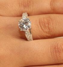 2ct Round Diamond Engagement Ring Wedding Solid 14k White Gold Rubyshire