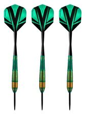 Harrows Vivid High Grade Tinted Alloy Steel Tip Darts – 22 Grams - Green