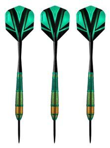 Harrows Vivid High Grade Tinted Alloy Steel Tip Darts – 24 Grams - Green