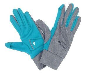$125 Calvin Klein Unisex Blue Key Pocket Thermal Ski Warm Winter Gloves Size S