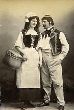 Humoristic Portrait Couple Meudon France Old Photo Delaporte 1875