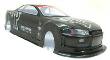 Nismo R34 Gtr Gray Painted Rc Body 1/10th Scale Hpi Traxxas Kyohso Nissan