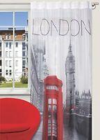 Cortina de Confección Diseño London Con Tablillas Ocultas 140 x 245 cm Gris