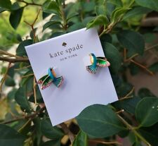 Kate Spade 12k Gold Plated Scenic Route Hummingbird Stud Earrings