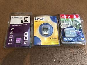 Micro SD Rs1mmc Mini Sd X3 New Cards 1gb 256mb 128mb