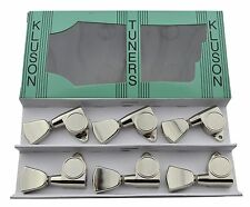 Kluson Modern Round Back Metal Tulip Tuners Machine Heads 3x3 Nickel