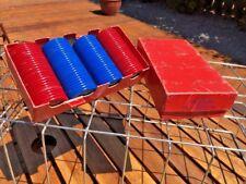 Vintage Poker Chips-Original Boxes, White,Red, Blue