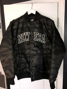 New Era Jacket Varsity Camo Bomber Japan RARE BNWT large $185 MSRP