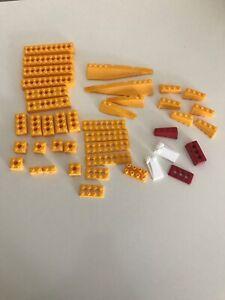Knex Bricks Yellow , White And Red VGC 40 Parts