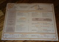 Restaurant Menu The Red Lobster Seafood & Steaks Restaurant 1978 vintage ANTIQUE