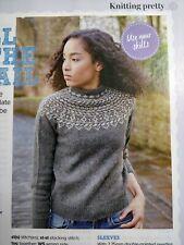 Fairisle yoke sweater jumper Knitting Pattern from Prima Magazine