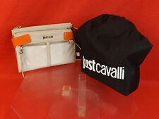 NWT JUST CAVALLI BEIGE CLUTCH WALLET PURSE WITH ZIPPER FRONT $168