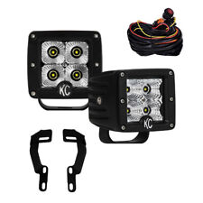 KC Toyota Tacoma 05-15 Pillar/Ditch Mount C-Series C3 LED Flood Beam Light Kit