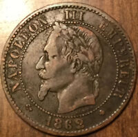 1862 A FRANCE 2 CENTIMES NAPOLEON III EMPIRE FRANÇAIS - A GREAT EXAMPLE !