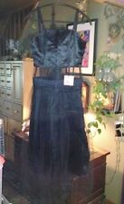 """Hot Topic """"Super Low Fat"""" Black Punk/Gothic Dress-Removable Tulle -Small-NWT"""
