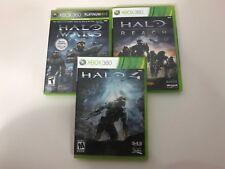 Halo Xbox 360 Lot Reach Wars Halo 4